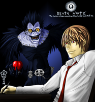 Death Note Ryuuku and Light by Arc-Ecclesia