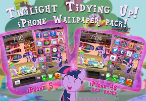 Twilight Tidying up! iPhone Wallpaper Theme! by trebory6