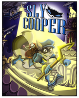 Sly Cooper Comic Cover Commission by shinragod
