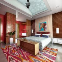 Indian Styled Bed Room by marauderx666