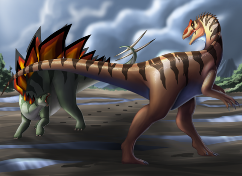 Jurassic meeting by Lordstevie