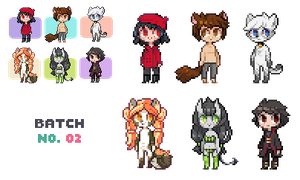 Pixel Icon Commishes 02 by Sergle