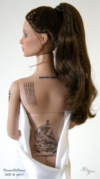 OOAK Angelina Jolie by Donna 08 by Laragwen