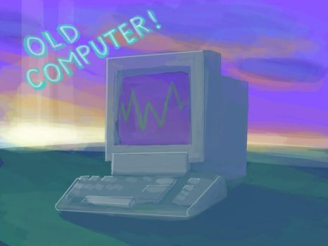 sketch old compter by hambot76