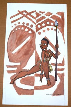 Native afican woman by Afrothunder678