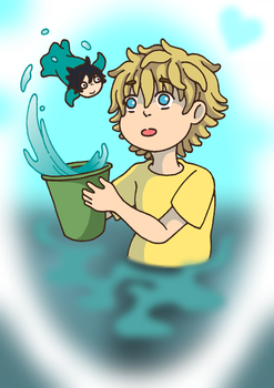 Little Fish Boy by xxx-TeddyBear-xxx