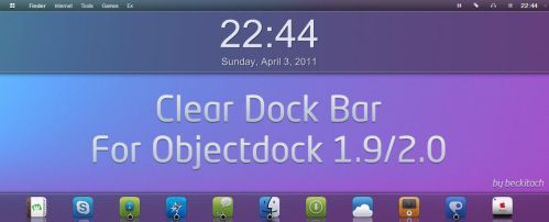 Clear dock bar by beckitach