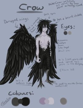 Crow .:Reference Sheet:. by Clambiluna