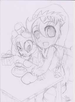 Wip:: Merry Christmas :: by Vivi-the-cat