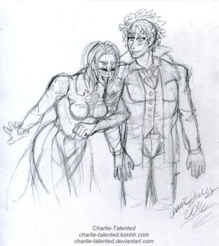 Naomi and Lucca by Charlie-Talented