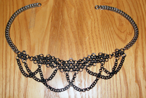 Stainless and Black Choker by Bird-Of-Hermes