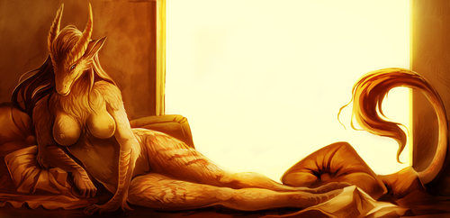 bed of gold by Grimmla