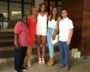 Football player and tall family by lowerrider