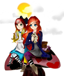 Alice and Hatter by NimlaTheCat