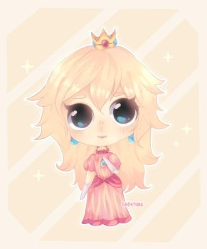 First drawing on the iPad pro - Princess Peach! by Ghostimu