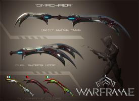 Warframe Weapon Contest: The Dimachaer by OSP-Scata