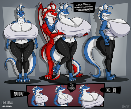 Luna Ulhar - Reference Sheet (Clothed) by wolfjedisamuel
