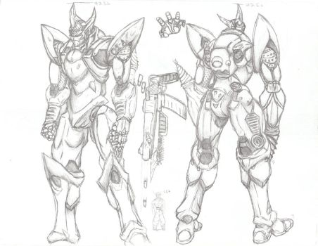 Me trying to draw a mech... by Soberbroly
