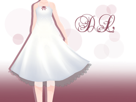 .:: MMD - White one piece Dress DOWNLOD ::. by AneCoco