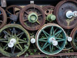 STOCK Old train wheels by Inilein