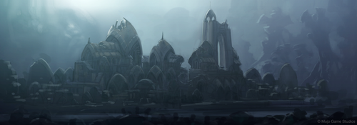 Ruins of the Swamp City by JoshEiten