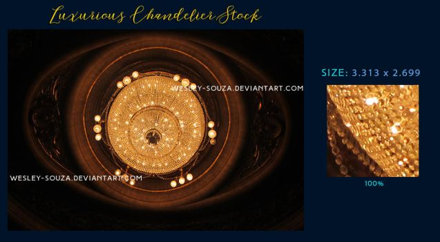 Luxurious Chandelier Stock by Wesley-Souza