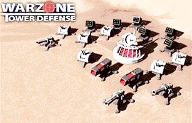 Warzone Tower Defense in ANSI art by ED-127