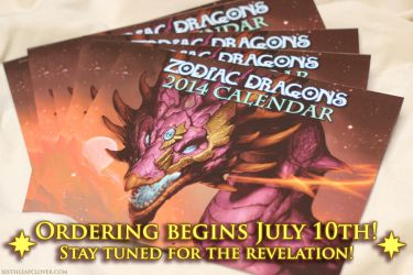 Zodiac Dragons 2014 Calendar Soon by The-SixthLeafClover