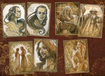 LotR sketch card herd in sepia by BohemianWeasel
