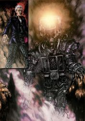 Doctor Who comic Cyberman by MatiasSoto