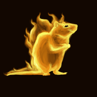 Fire rat by Inkyness