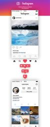 FREE Instagram Feed and Profile Screen UI - 2016 by MarinaD