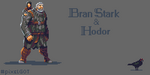 Bran Stark and Hodor by Luczynski