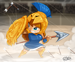 Chibi Athena by Shonuff44 Color by TonyG by Nogistune