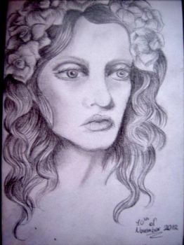 Random drawing of a lady... by AmyLouiseZombie