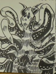 Oct 26 - Mignola monster by Paul-A-Newman