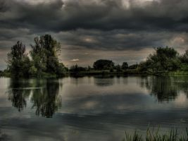 Lake in Legnica, Poland by Wh1tesheep
