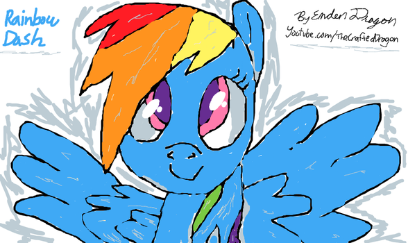 Rainbow Dash Drooodle Sketch by EndenDragon