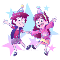 Happy Birthday: twins!! by Rainmaker113