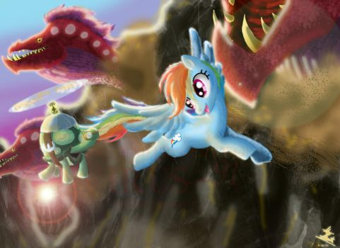 A Sunset Flight Through Ghastly Gorge by Virus-91