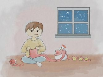 Adventures in Knitting and Animal Husbandry by Inferno-Blossom