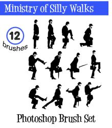 Ministry of Silly Walks brushs by bozoartist
