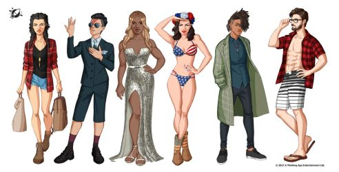 PIMD characters 4 by Emilyena