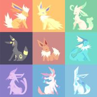 Eeveelutions by Mephikal