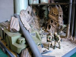 aliens colonial marines diorama new photo 2 by paultag