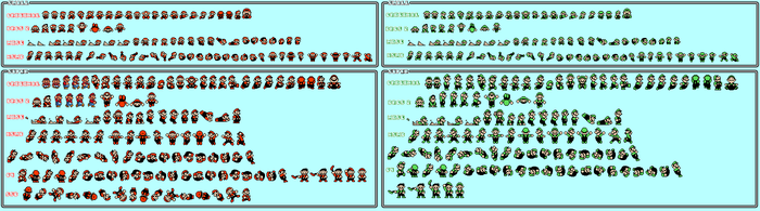 16-bit shaded Gorsal's SMB3 sprite sheet (Part 1) by qwertyuiopasd1234567