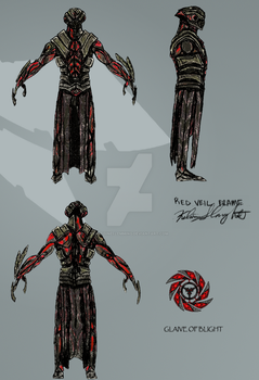 Red Veil Warframe Concept - Final Color by antoineflemming