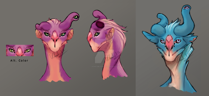 Experimental Concept - Andalite Heads by vickie-believe
