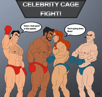Gaston/Bluto vs Adam/Popeye TAG BOXING MATCH 1 by toongalore