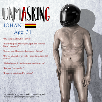 Model: Johan, Front, censored by unmasking-project